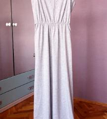 Nova pamucna siva duga haljina iz Turske