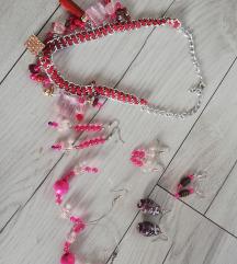 Crveni set nakita za 500 din