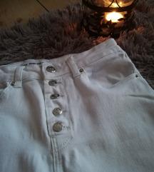 SNIZENJE 599 Sinsay denim bele pantalone/ farmerke