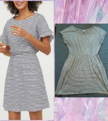 H&M Jersey haljina-tunika na prugice L
