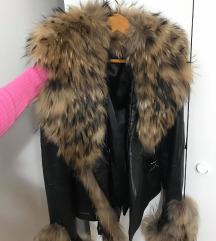nova kozna jakna sa prirodnim krznom