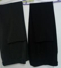 2 kom klasičnih ženskih pantalona sive i braon