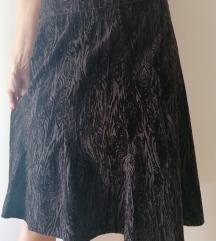 Braon somot suknja 40