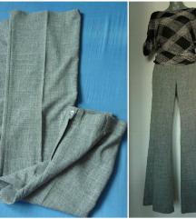 High waist pantalone/zvonarice na crtu  L/M