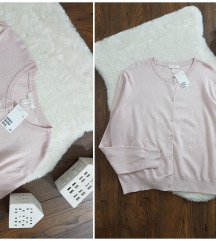 H&M * XL * puder roze kardigan NOVO
