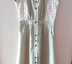 Maxi haljina sa čipkom S