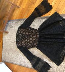 Haljina od cipke nova crna