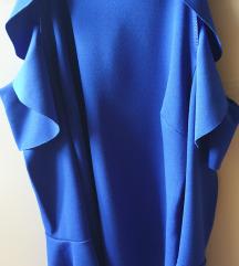 Kraljevsko plava sa golim ramenima