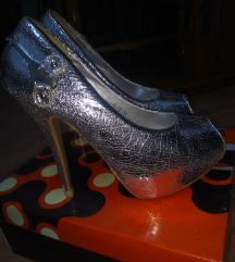 Srebrne cipele-otvoreni prsti