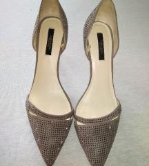Zara prelepe kožne cipele s cirkonima 39 NOVO