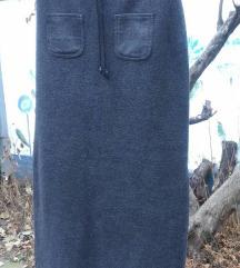 Duga debela siva suknja  vel. M/L