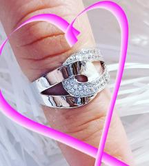 Srebrni prsten Novo 16mm.