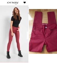 Orsay skinny voskirane pantalone, novo