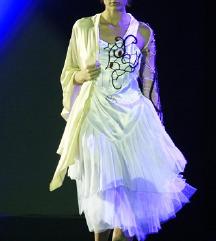 Nova UNIKAT Dizajnerska plisirana haljina