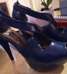 Sulis kraljevsko plave lakovane sandale
