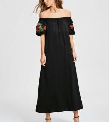 Crna haljina sa vezom