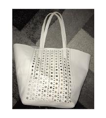 H&M velika bela ceger torba