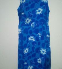 Maksi plava letnja haljina