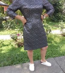Crno srebrna haljina M