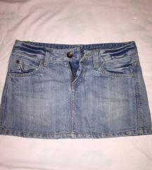 teksas mini suknjica