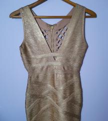 Zlatna Herve Leger haljina