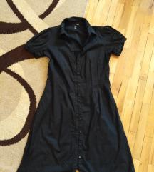 H&M Crna kosulja-haljina
