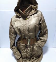 ITALY Elegant duža jakna sa kapuljačom XL