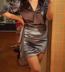 Kratka plišana haljina