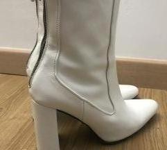Zara kozne nove bele cizme