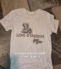 H&M bela majica sa vezom S,M