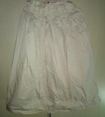 Paperbag waist krem suknja