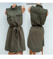 Maslinasta kosulja-haljina H&M