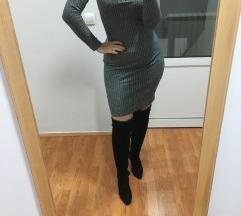 Siva haljina trikotaza