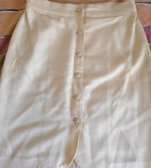 Krem vintage duboka suknja.