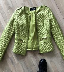 Zelena stepana jakna