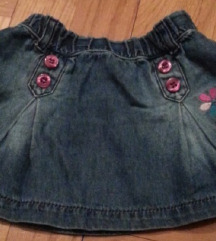WAIKIKI teksas  suknja za bebe devojcice 1 god