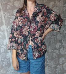Vintage cvetna jakna