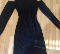Haljina crna  gola ramena