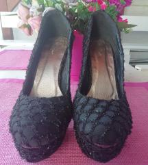 Crne sljokicave cipele / 40