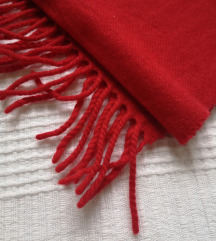 🍓 [SNIŽENO sa 1200] Crveni šal (100% vuna)