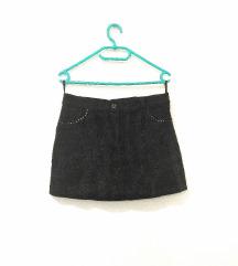 Crna sjajna goth suknjica