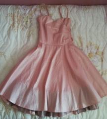 Roze svečana haljina