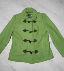 Predivan zeleni GAP kaput 78%vuna M/L