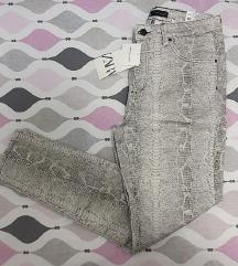 ZARA skinny snake pantalone! NOVO etiketa! 38-40