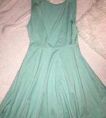 H&M mint nova haljina sa otvorenim ledjima