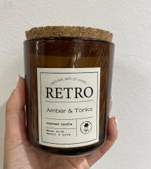 Retro Amber & Tonka original ukrasna sveca