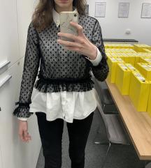 Zara cipkana bluza -tufnice