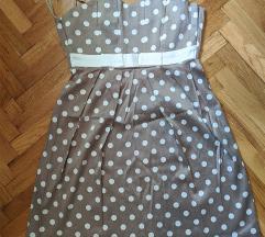 Braon/siva haljina na tufne