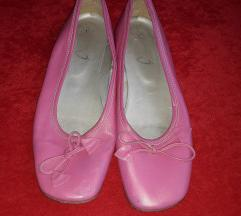 Roze baletanke od prave koze