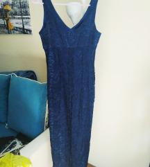 Nova elegantna cipkana dugacka haljina